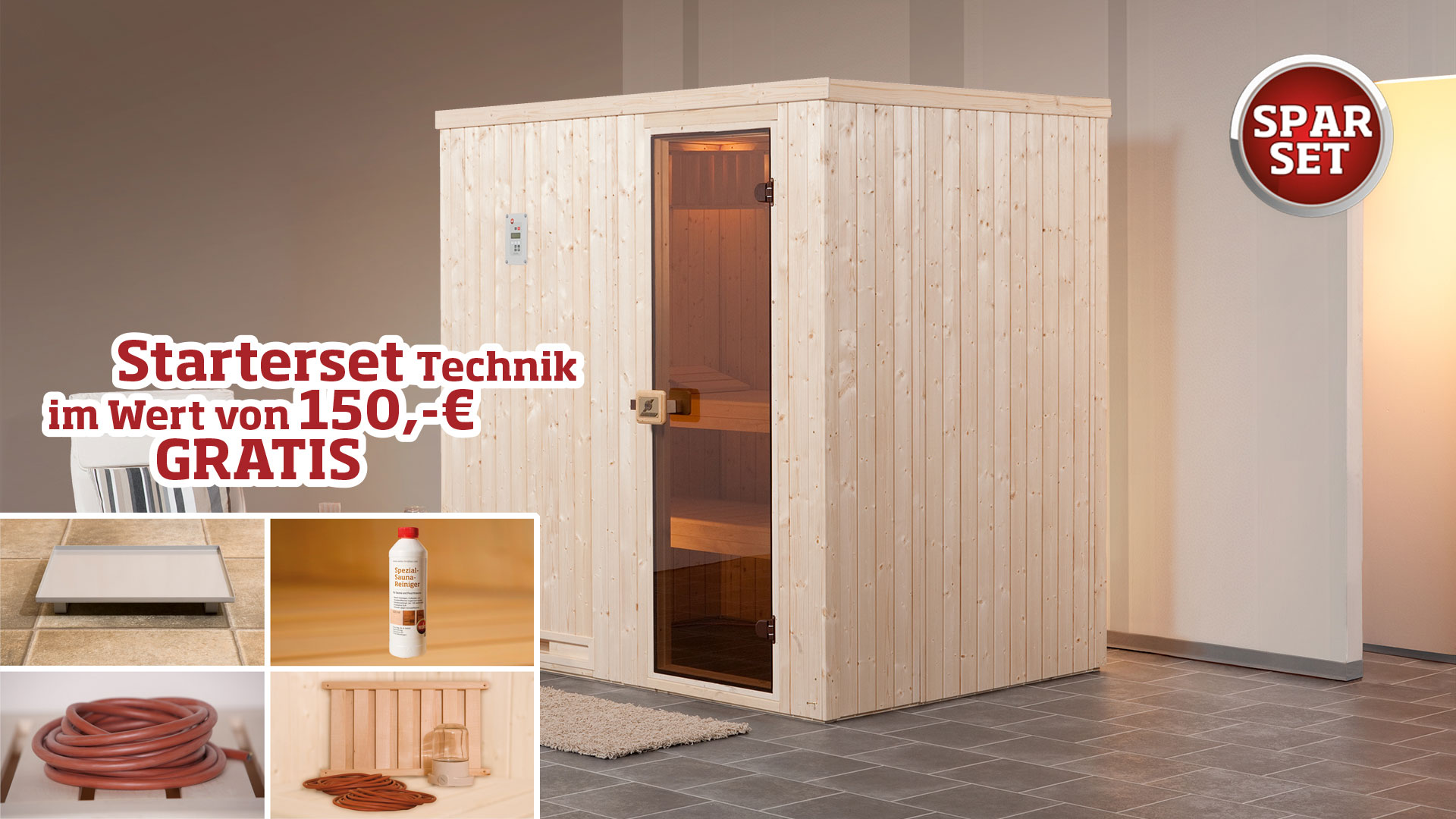 Elementsauna Oslo 4 exkl. BIOS 7,5