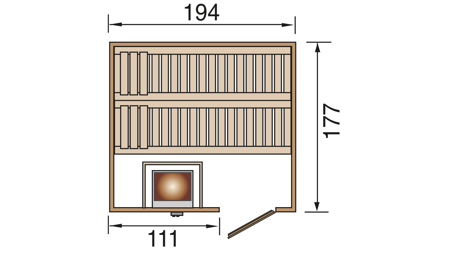 Elementsauna Oslo 5 exkl. BIOS 7,5