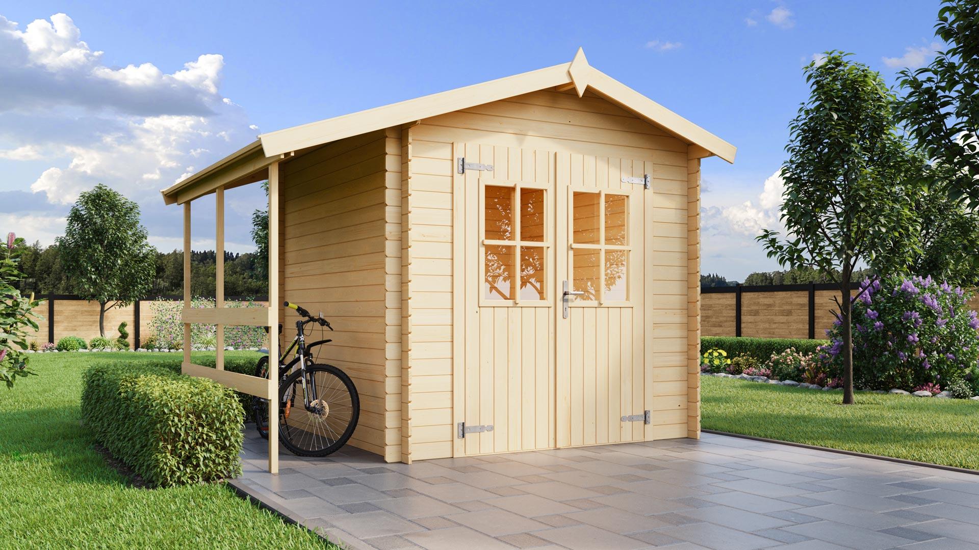 Massivholz-Gartenhaus Louis