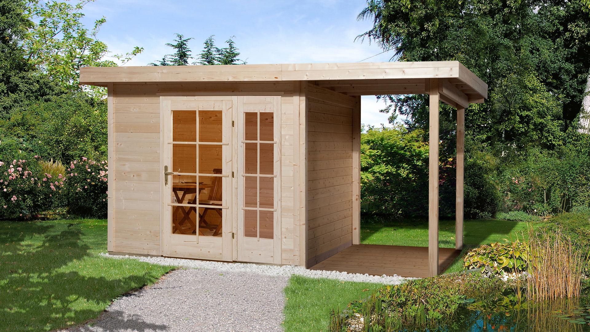 Massivholz-Gartenhaus Wolf  2